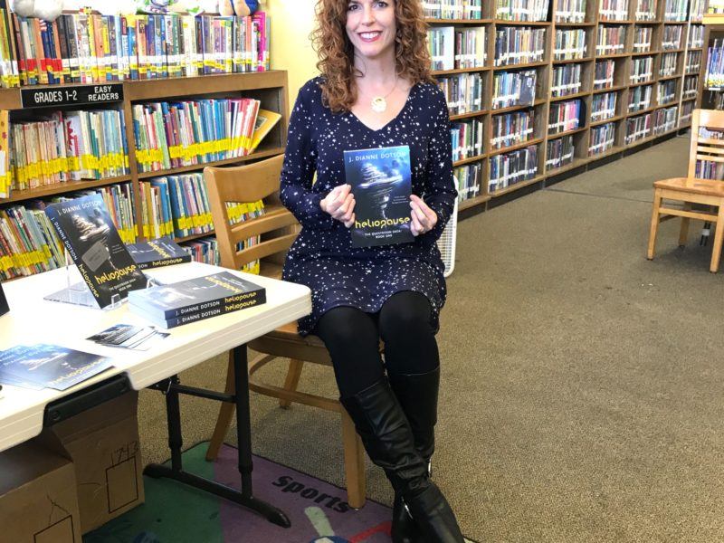 A Library Reading and Signing