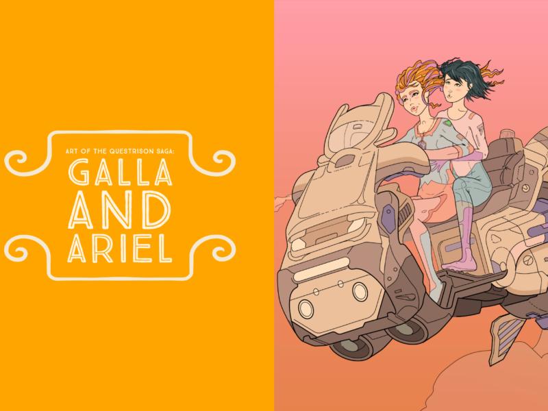 Art of The Questrison Saga: Galla and Ariel