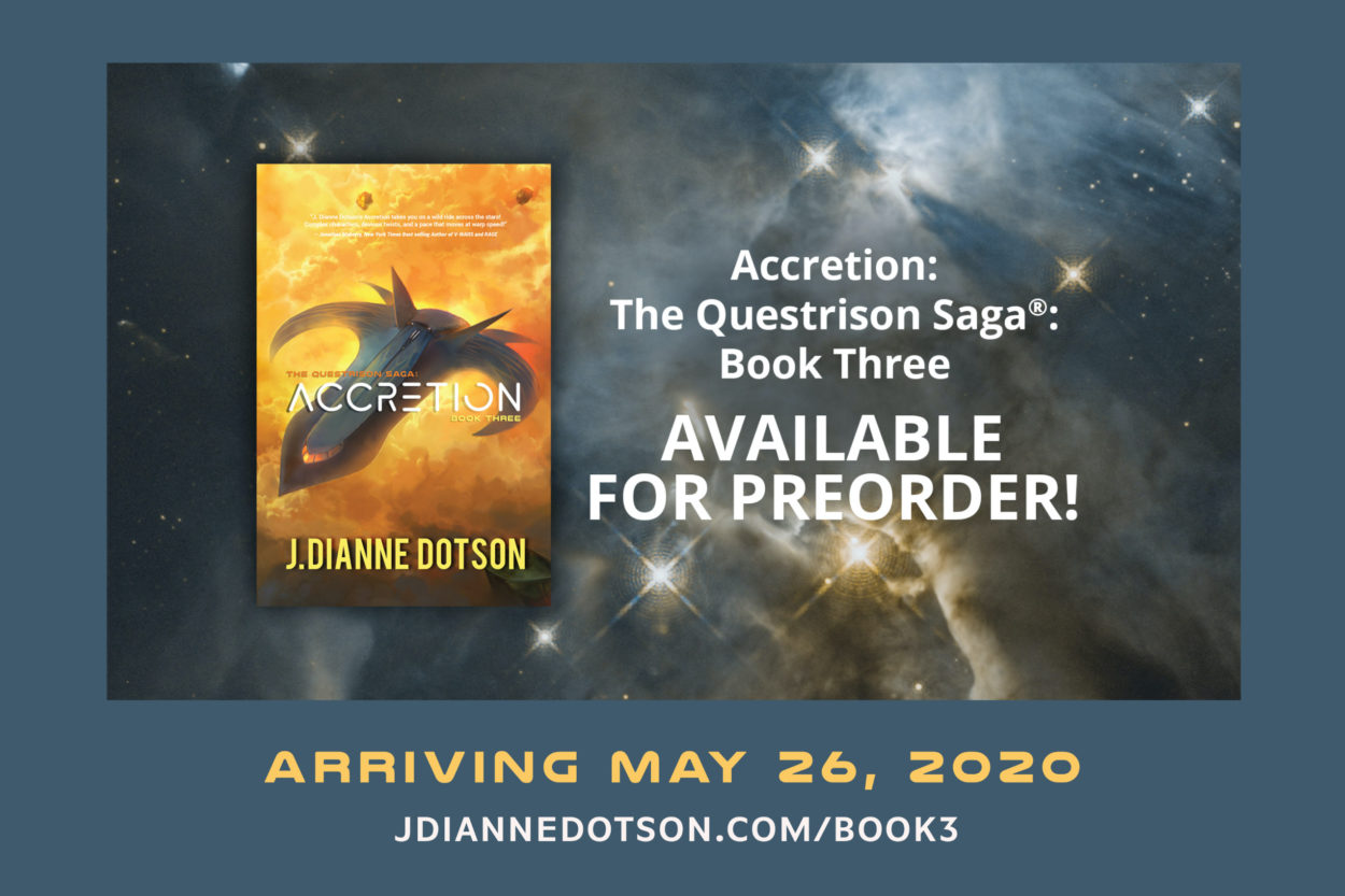 J. Dianne Dotson – Science Fiction and Fantasy Writer - One Month to Accretion!